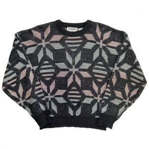 Sweaters - 80s Abstract Snowflake Sweater